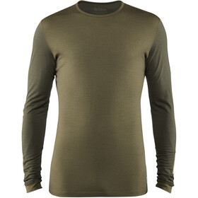 Fjällräven Keb Wollen Longsleeve Shirt Heren, laurel green-deep forest